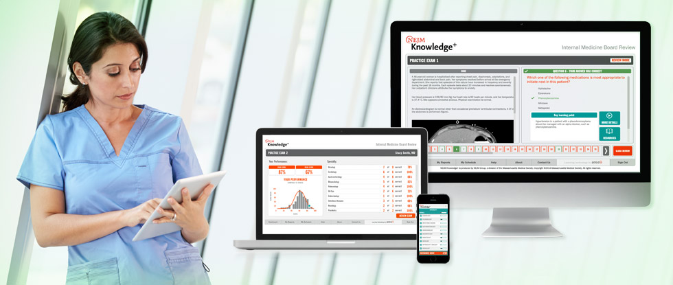 NEJM Knowledge Plus works on many devices