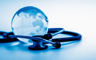 International Medical Graduate Image of a Globe and a Stethoscope